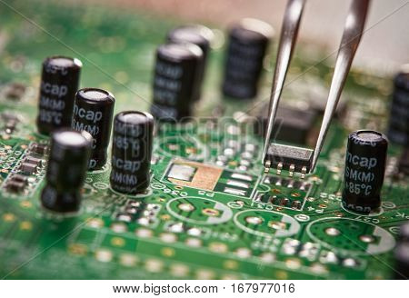 Assembling a circuit board. Technological background