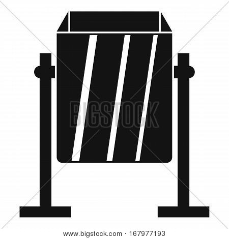 Metal dust bin icon. Simple illustration of metal dust bin vector icon for web