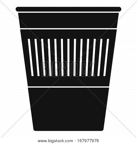 Plastic office waste bin icon. Simple illustration of plastic office waste bin vector icon for web