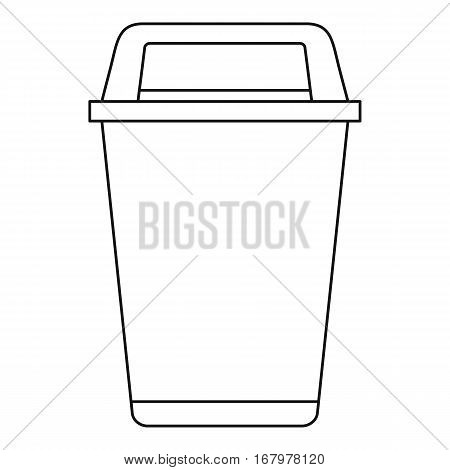 Flip lid bin icon. Outline illustration of flip lid bin vector icon for web