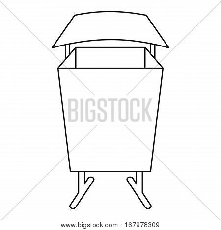 Public dust bin icon. Outline illustration of public dust bin vector icon for web