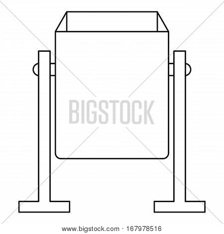 Metal dust bin icon. Outline illustration of metal dust bin vector icon for web