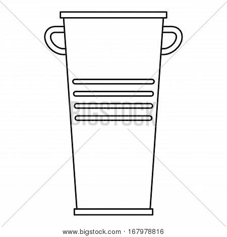 Garbage tank with handles icon. Outline illustration of garbage tank with handles vector icon for web