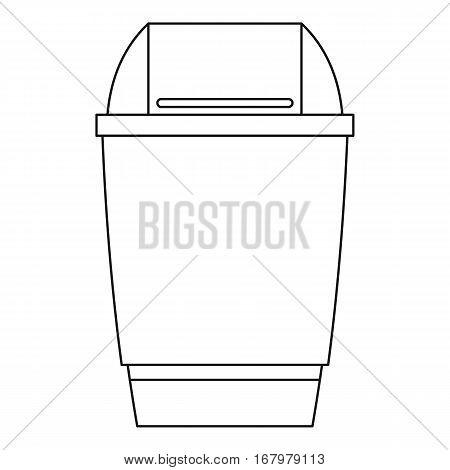 Dustbin icon. Outline illustration of dustbin vector icon for web