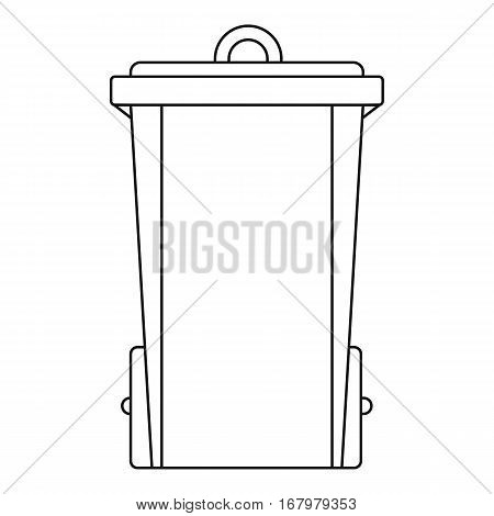 Trash bin icon. Outline illustration of trash bin vector icon for web