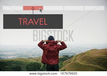 Adventure Destination Discovery Travel Exploration Vacation Icon