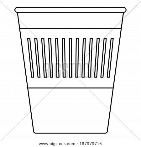 Trash basket icon. Outline illustration of trash basket vector icon for web