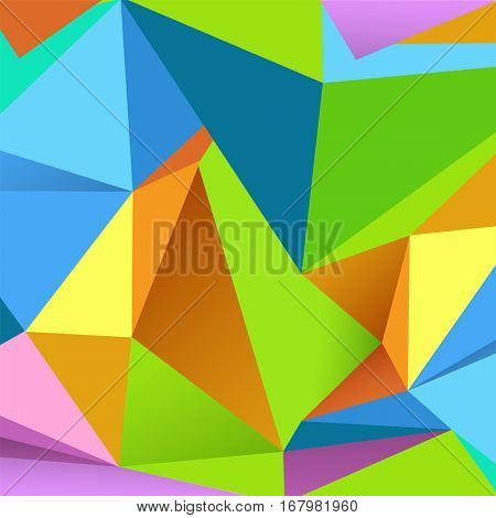 Colorful geometrical Abstract design decorated Background.