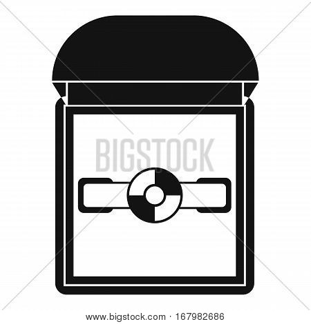 Ring in a velvet box icon. Simple illustration of ring in a velvet box vector icon for web