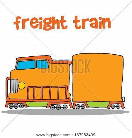 Freight train vector art illustration collection stock