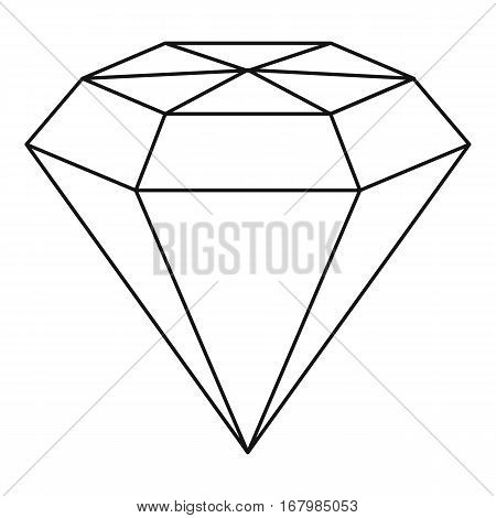 Diamond gemstone icon. Outline illustration of diamond gemstone vector icon for web
