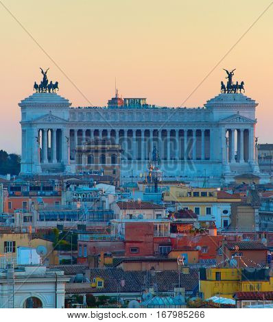 Altar Of The Fatherland. Rome