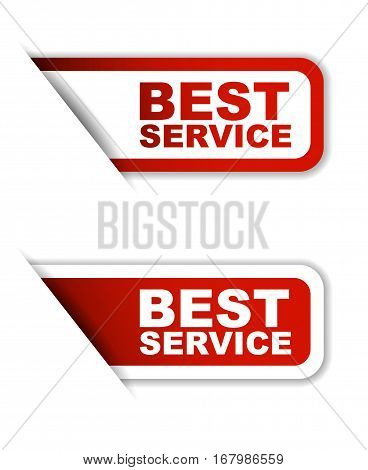This is red set vector paper stickers best service