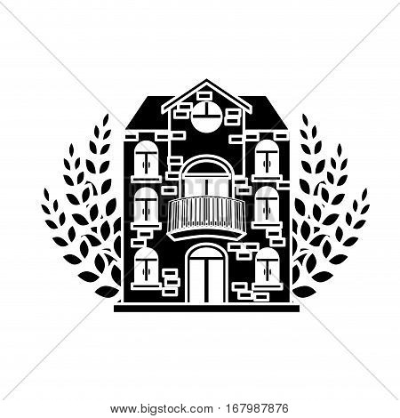 black beer canteen with wheat image design, vector illustration