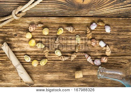 old wooden background with the word sos