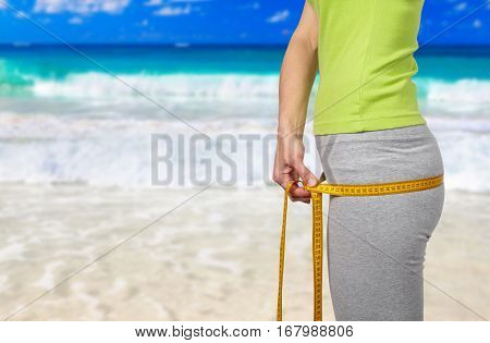 Slender Woman On The Beach