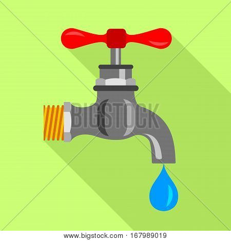 Dripping tap icon. Flat illustration of dripping tap vector icon for web design