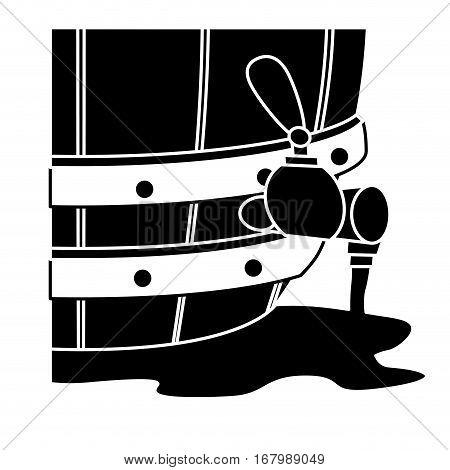 black beer dispensers icon image design, vector illustration