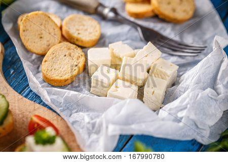 Bread Rusks And Feta