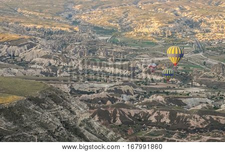 Cappadocia - Turkey - May 02, 2016 Hot Air Balloon Over Cappadocia, Turkey