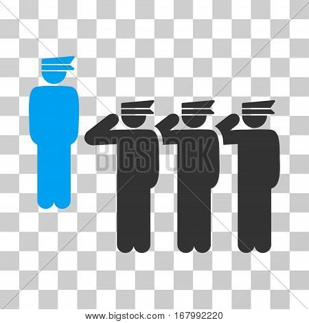 Army icon. Vector illustration style is flat iconic bicolor symbol, blue and gray colors, transparent background. Designed for web and software interfaces.