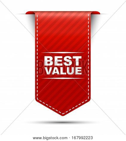 This is red vector banner design best value