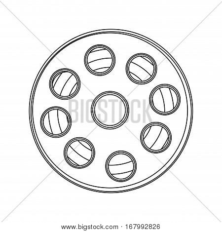 monochrome contour with cinematography tape vector illustration