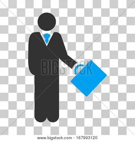 Businessman icon. Vector illustration style is flat iconic bicolor symbol, blue and gray colors, transparent background. Designed for web and software interfaces.