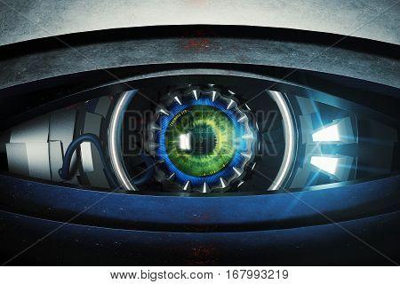 Green Cyber Eye Front