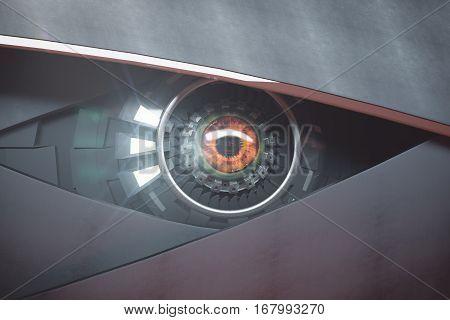 Futuristic Hazel Eye