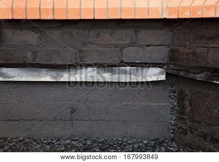Treatment Foundation of the house mastic asphalt
