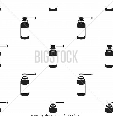 Throat spray icon in black style isolated on white background. Medicine and hospital pattern vector illustration.