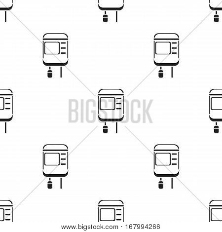Drop counter icon in black style isolated on white background. Medicine and hospital pattern vector illustration.
