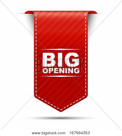 This is red vector banner design big opening
