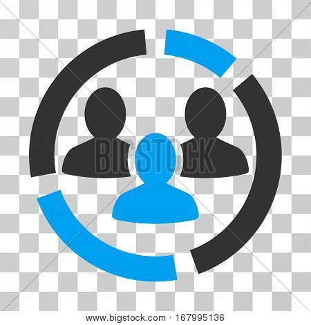 Demography Diagram icon. Vector illustration style is flat iconic bicolor symbol, blue and gray colors, transparent background. Designed for web and software interfaces.
