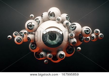 Collection Of Blue Eyeballs