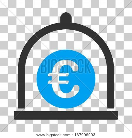 Euro Standard icon. Vector illustration style is flat iconic bicolor symbol, blue and gray colors, transparent background. Designed for web and software interfaces.