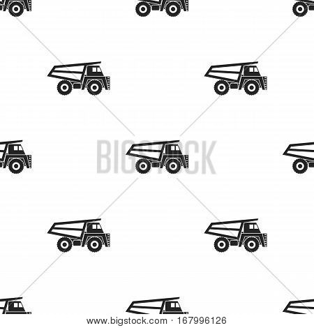 Haul truck icon in black style isolated on white background. Mine pattern vector illustration.