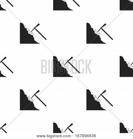 Pickaxe icon in black style isolated on white background. Mine pattern vector illustration.