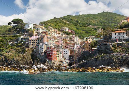 The Village Of Riomaggiore Of The Cinque Terre,