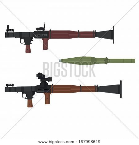 Soviet / Russian reusable rocket-propelled grenade RPG-7 with reactive antitank grenade