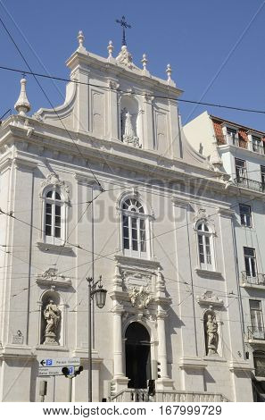 Church of the Italians (Our Lady of Loreto) in the district of Chiado Lisbon Portugal