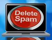 Delete Spam Button For Removing Unwanted Junk Email 3d Rendering poster