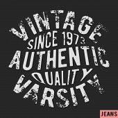 T-shirt print design. 1973 vintage stamp. Printing and badge applique label t-shirts jeans casual wear. Vector illustration. poster