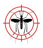 Warning, Prohibited sign with mosquito with. Stop Zika Virus. Stop Malaria. Stop Dengue. Vector illustration. Use repellent protection poster