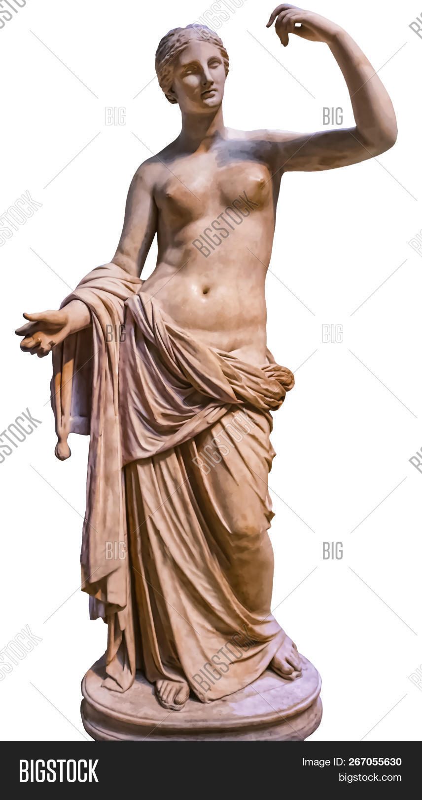 Venus Dess Of Love Statue Isolated On White