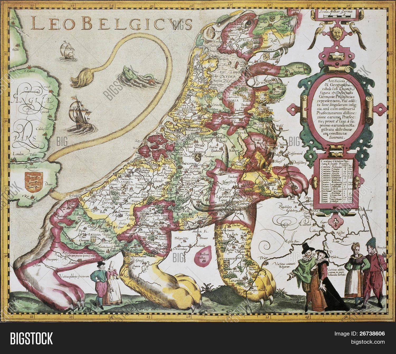 Leo Belgicus Belgium Image Photo Free Trial Bigstock - Amsterdam old map