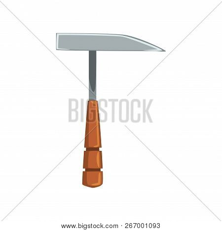 Pickaxe Tool, Geological Or Mining Industry Equipment Vector Illustration On A White Background