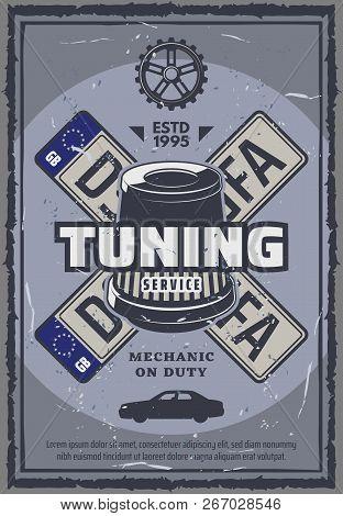 Car Tuning Repair Vector & Photo (Free Trial) | Bigstock
