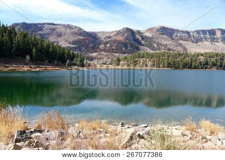 Haviland Lake At The Last Of Fall And The First Of Winter